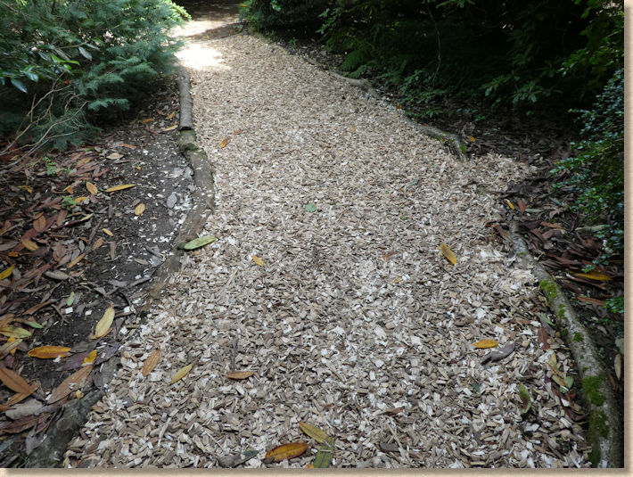 woodchip pathway at Heligan Garden