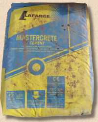 cement in a bag