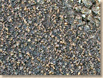 sealing grit close up