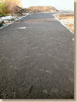 sealing grit on new road