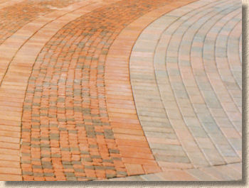 clay and concrete pavers