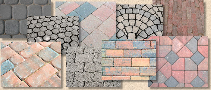 types of block pavers