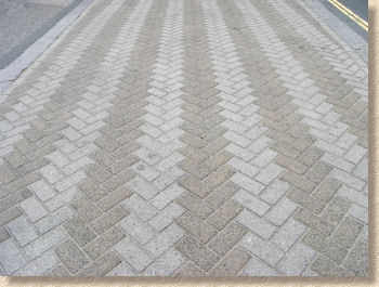 chevrons in block paving