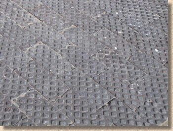 clay hobnail pavers