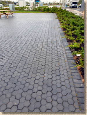 machine lay hexagonal paving