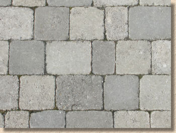 grey tumbled pavers
