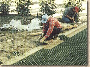 laying Grassroad Pavers