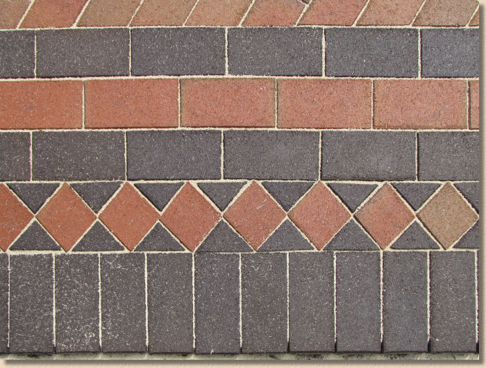 harlequin in clay pavers