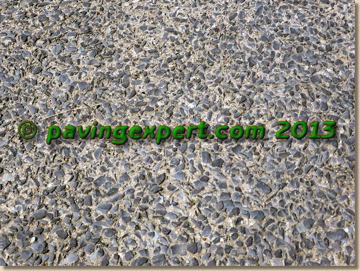 beddgelert exposed aggregate slate concrete