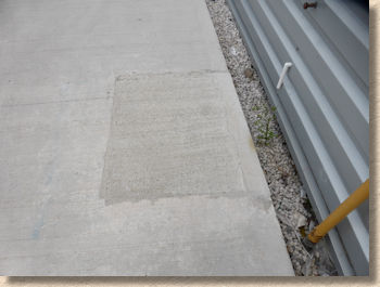 patch repair to plain concrete