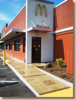 repaired decorative surfacing at mcdonalds