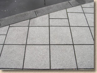 inboard cuts to granite flags
