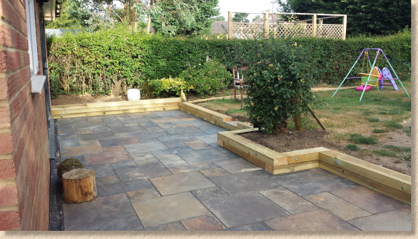 patio laid to design