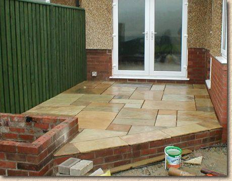 sandstone flag patio - Diy Sandstone Patio