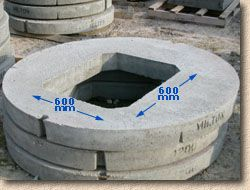 'circular biscuit' from the web at 'http://www.pavingexpert.com/images/drainage/bisc_rnd.jpg'