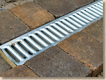 galvanised A grating