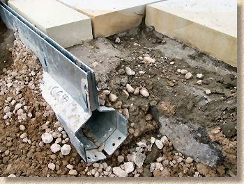 Pavingexpert drainage channel drainage linear drains for Landscape channel drain