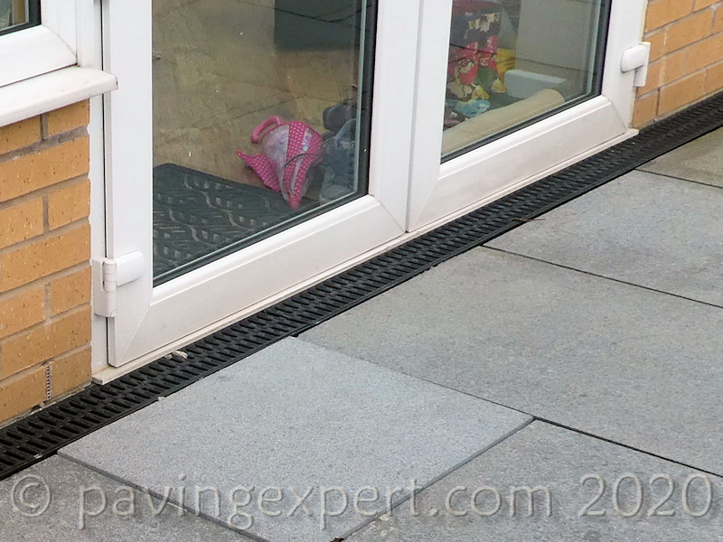 linear channel at patio doors