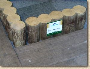 log edging