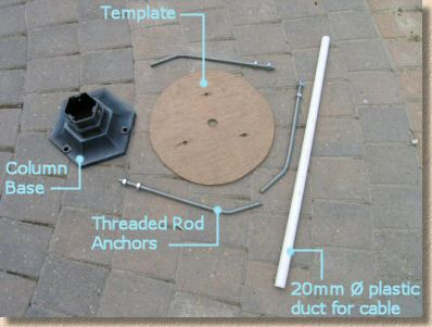 lamp column components