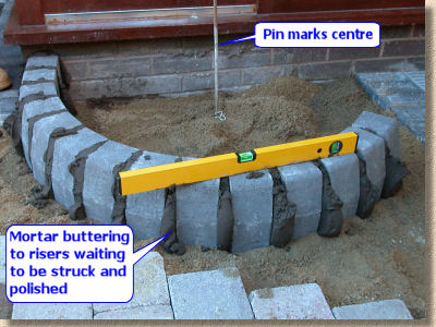 pavingexpert - block paving step construction