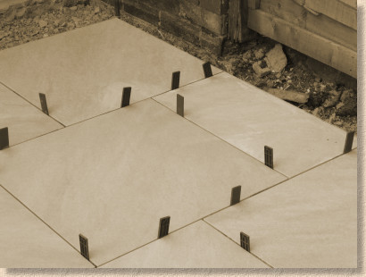 using joint spacers with ceramic paving