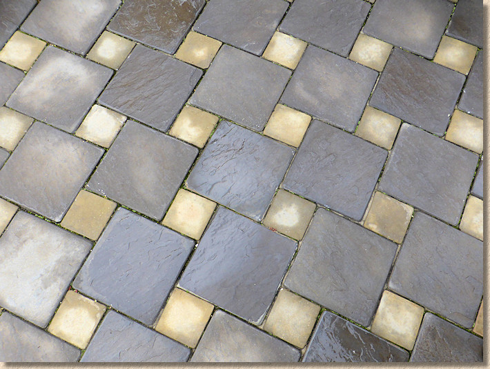 Dutch Pattern wet case paving