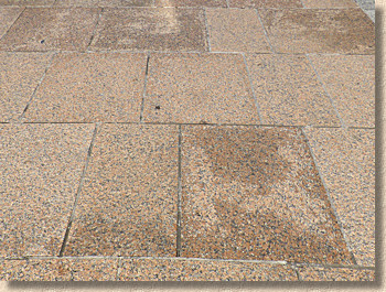 marks on granite paving