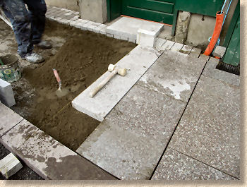 Pavingexpert Rigid Laying Of Granite Paving