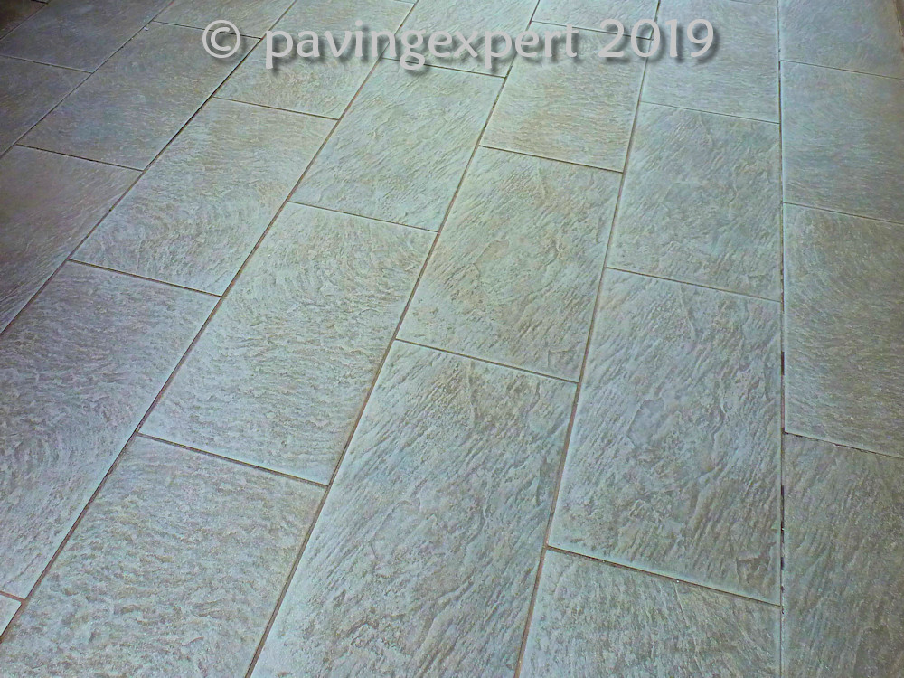 riven textured porcelain paving