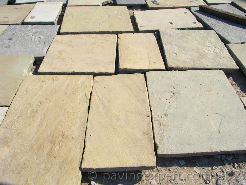 reclaimed stone slabs or flagstones