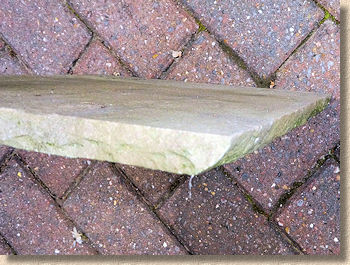sandstone flag with undercut sides