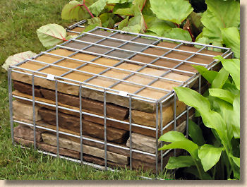 flagstone filled gabion