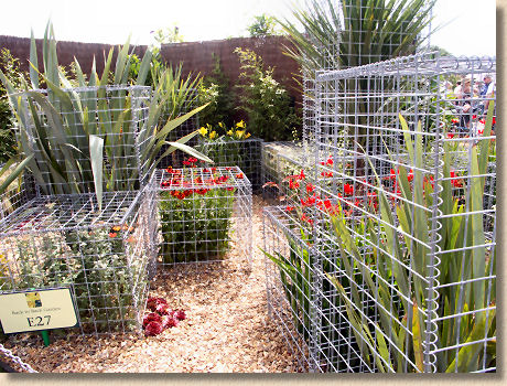 flower filled gabion