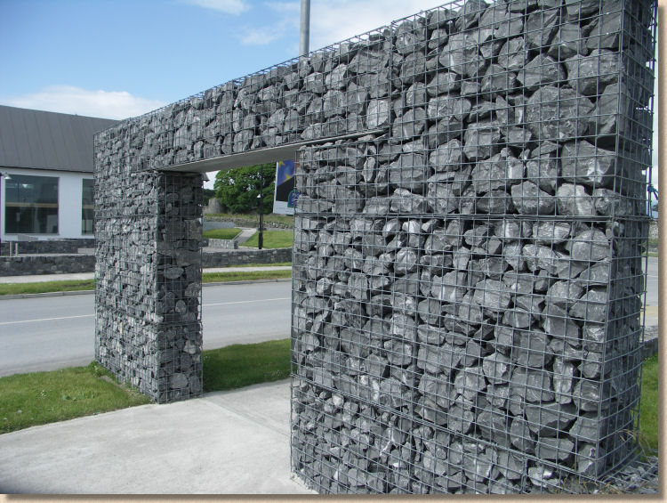 irish blue limestone portal