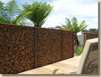 rusty wall gabion