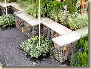 tile-filled gabion