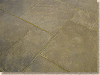 flamed oak paving