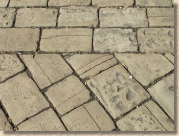 close jointed yorkstone setts