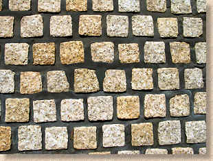 cubes with dark mortar jointing