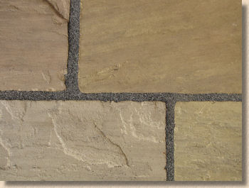 flagstone with resin jointing