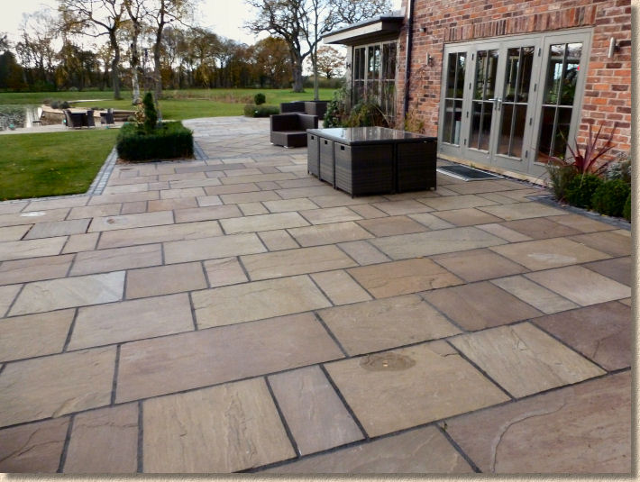 Patio Images pavingexpert - re-jointing a patio or driveway
