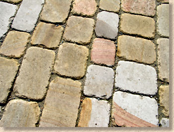 sand jointed yorkstone setts