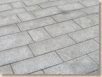 cement film on paving
