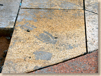 stained pavement