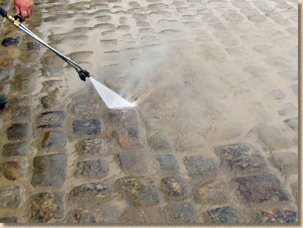 washing grout off setts