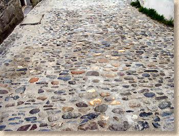 wet grouted cobbles