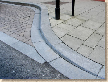 limestone channel and kerb