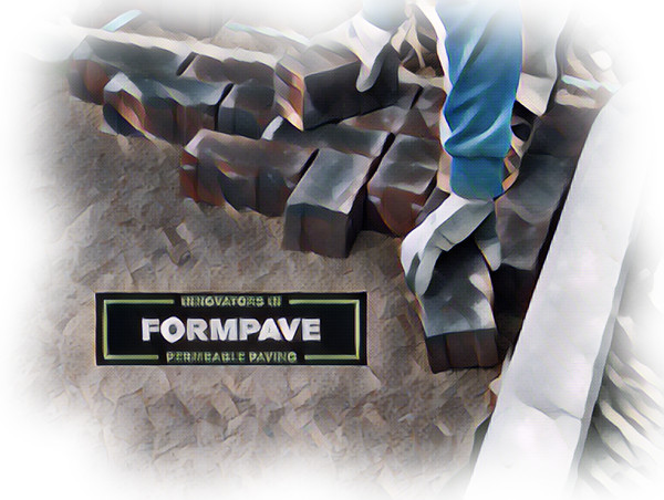 Installing a permeable block pavement with Formpave Logo