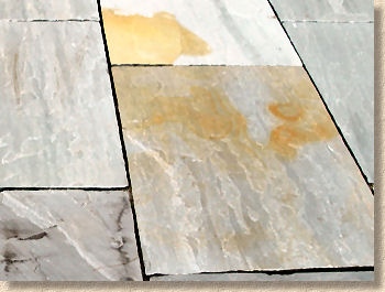 acid stained sandstone